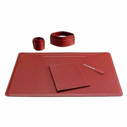 Tilbehør til 5 stykker læderbord fremstillet i Italien - Ebe