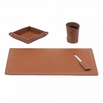 Tilbehør Regenereret læderbord, 4 stykker, fremstillet i Italien - Ascanio