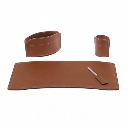 Tilbehør Kontorpult i regenereret læder fremstillet i Italien - Brando