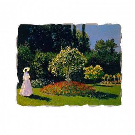 "Fresco Claude Monet ""Lady in Garden at Sainte-Adresse"""