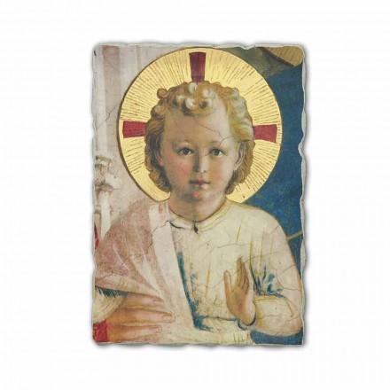 "Fresco håndlavet i Italien Beato Angelico ""Madonna Shadows"""