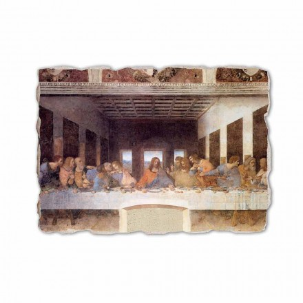 "Fresco gjort i Italien Leonardo da Vincis ""Den sidste nadver"""