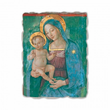 "Fresco gjort i Italien Pinturicchio ""Madonna and Child"""