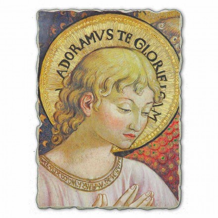 "store Benozzo Gozzoli fresco ""kor af engle i Tilbedelse"""