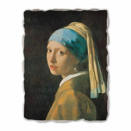 "stor fresco håndlavede Vermeer ""Pige med en Turban"""