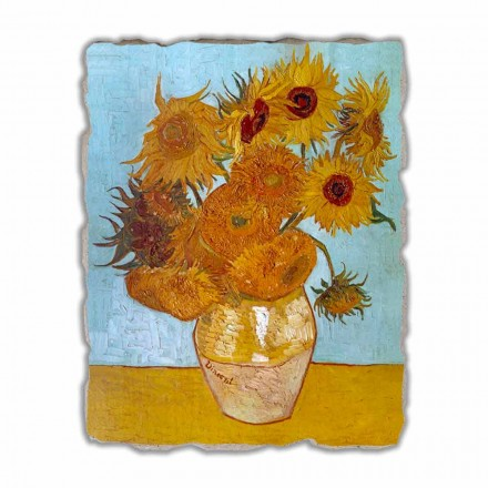"stor fresco håndlavet Vincent Van Goghs ""Vase of Sunflowers"""