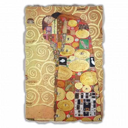 """stor fresco udført i Italien Gustav Klimt """"The Hug"""""""