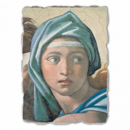 "stor fresco udført i Italien Michelangelo ""Oraklet i Delfi"""