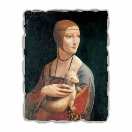 """store fresko af Leonardo da Vincis """"Lady med en Hermelin"""""""