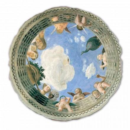 """stor fresco Mantegna """"Oculus med Keruber og Dame udsigt"""""""