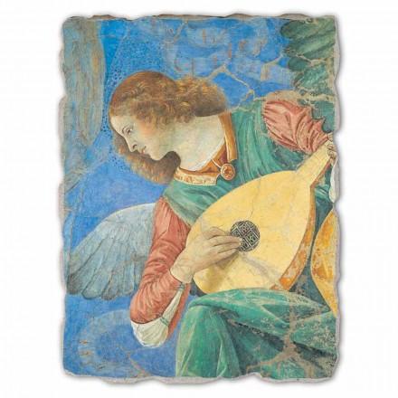 "store fresko af Melozzo da Forlì ""Angel Musiker"""