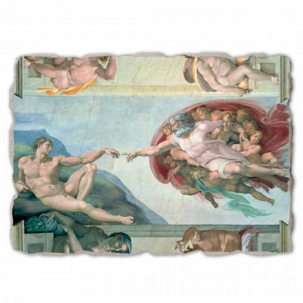 """store fresko af Michelangelos """"Skabelsen af Adam"""", håndlavet"""