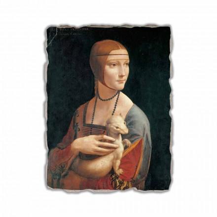 "Leonardo da Vincis fresko ""The Lady med en Hermelin"""
