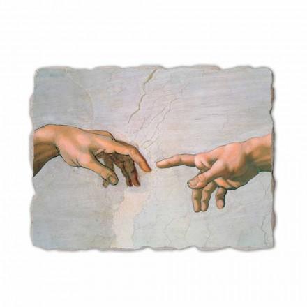 """Michelangelo fresco fremstillet i Italien """"Skabelsen af Adam"""" del."""