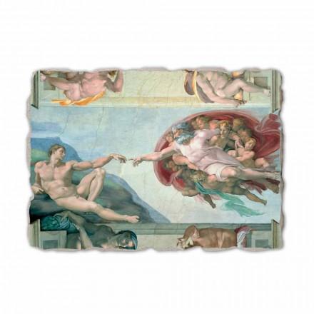 """Michelangelos fresko """"Skabelsen af Adam"""", håndlavet"""