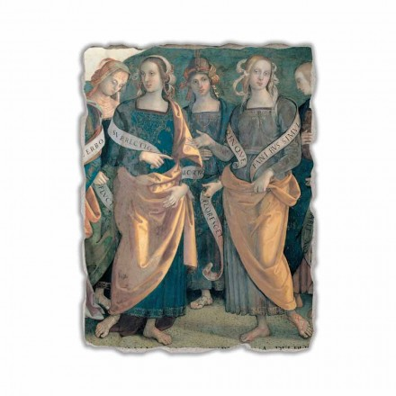 "Perugino fresco ""Lord of the Angels, profeter og Sibyllerne"" del."