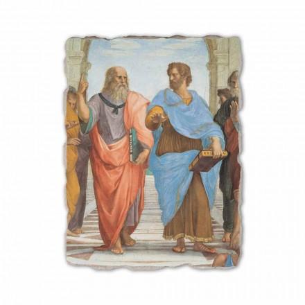 """Raphael fresco """"Skolen i Athen"""" del. Platon og Artistotele"""