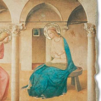 """Beato Angelico fresco reproduktion """"Bebudelsen"""" håndlavet"""