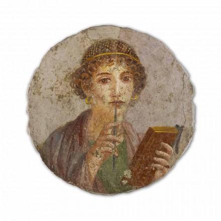 "Fresco reproduktion fremstillet i Italien Roman Art ""Digteren"""