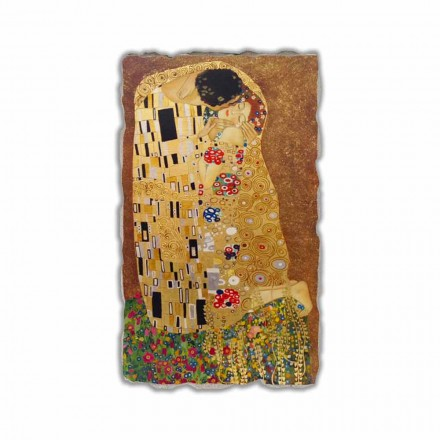 "Fresco reproduktion fremstillet i Italien Gustav Klimts ""The Kiss"""