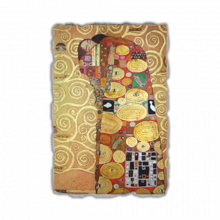 """Fresco reproduktion fremstillet i Italien Gustav Klimt """"The Hug"""""""