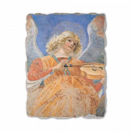 "Fresco reproduktion Melozzo da Forlì ""Angel Musiker"""