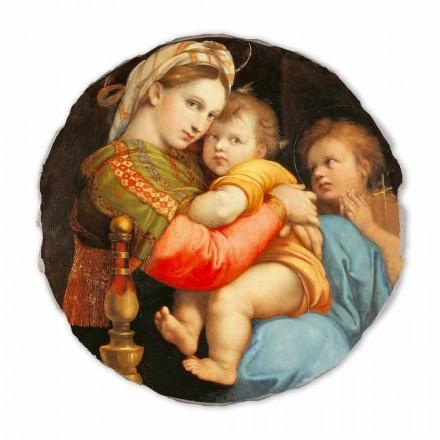 "Fresco reproduktion Raffaello Sanzio ""Madonna af Chair"""