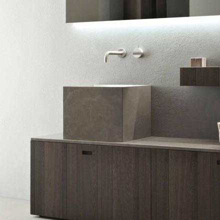 Høj firkantet køkkenvask i moderne designsten - Farartlav1