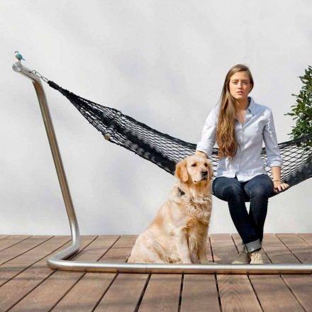 Hængekøje i stål og sort havedesign Lavet i Italien - Cumberland