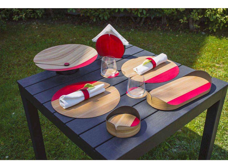 Modern design træ servietring lavet i Italien - Stan