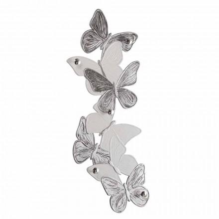 Væghænger med design sommerfugle 5pomelli lavet i Italien Brice