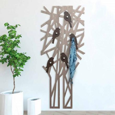 Vægfrakke i farvet træ med et moderne design - Alberuccell
