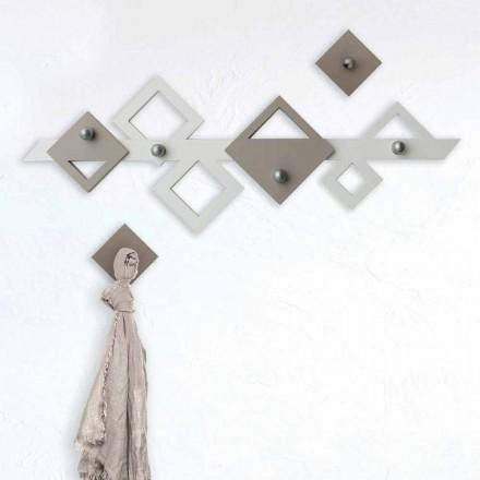 Hvid og beige trævægge Moderne geometrisk design - Klimt