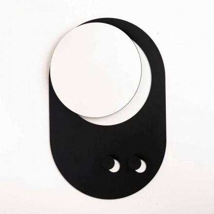 Moderne vægbeklædningsstativ i stål med spejl fremstillet i Italien - Pilippo