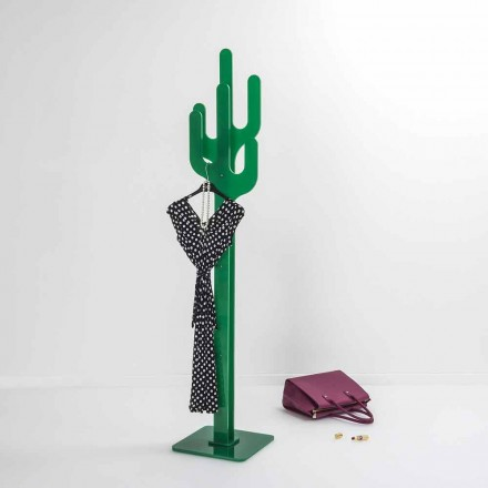 Stumtjener Green Cactus moderne design, fremstillet i Italien