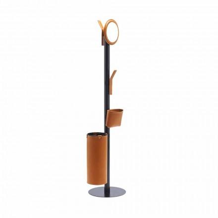 Gulvbelægning i moderne design i fremstillet Italien regenereret læder - Ercole