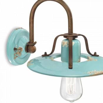 Applique land spotlight i metal og keramik Gladys Ferroluce