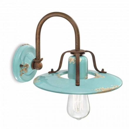 Applique land spotlight i metal og keramik Gladys Ferroluce