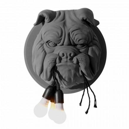 Væglampe med 3 lys i grå eller hvid keramisk moderne design - Dogbull