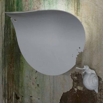 Design Leaf Wall Sconce i hvid keramik og snegl - Snegledekoration