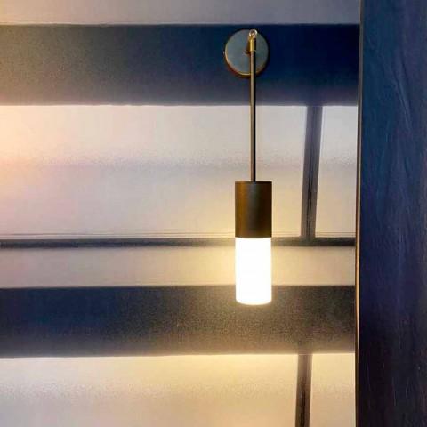 Artisan væglampe i aluminium og satinglas Made in Italy - Master