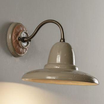 Artisan udendørs væglampe i Galestro Made in Italy - Toscot Spoleto