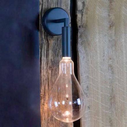 Udendørs væglampe i jern og aluminium med LED inkluderet Fremstillet i Italien - Luccico