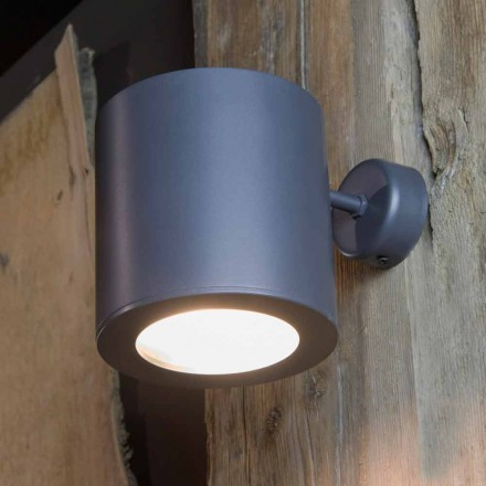 Udendørs væglampe i jern og aluminium med LED inkluderet Lavet i Italien - Rango