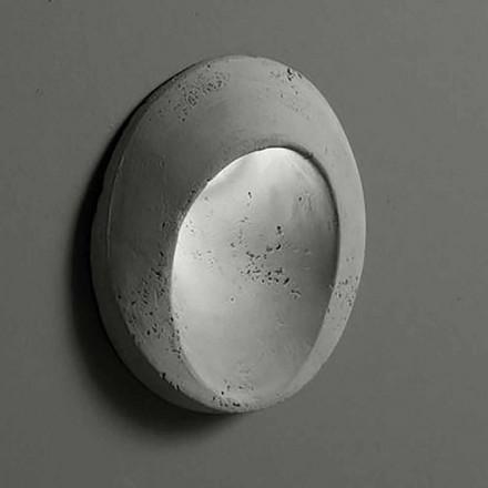 Oval udendørs væglampe i farvet ler Oval - Toscot
