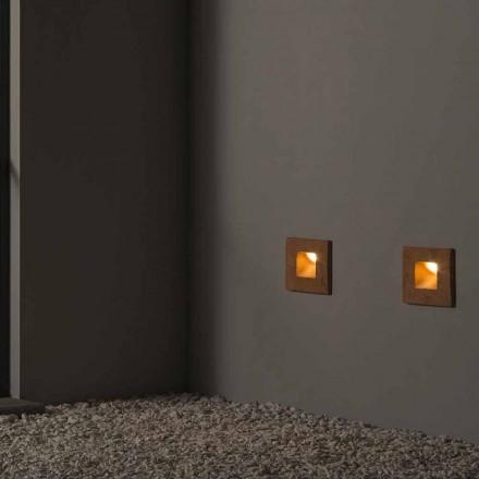 Firkantet udendørs væglampe i farvet ler Square - Toscot