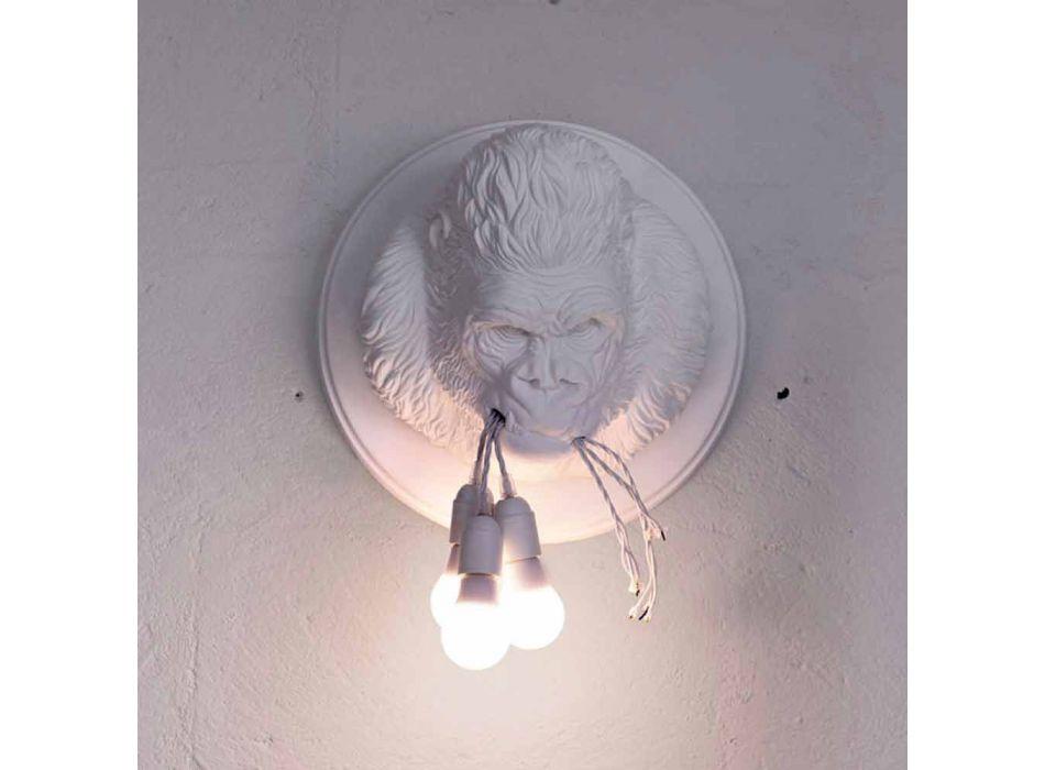3 lys væglampe i Gorilla keramisk grå eller hvid design - Rillago