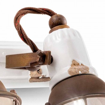 Applique design og tre projektører keramik og metal Lacey