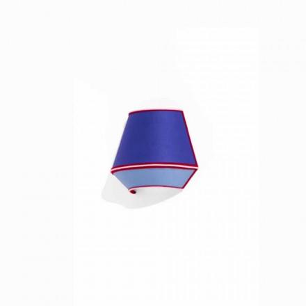 Designapplikation i blå bomuld med røde og hvide detaljer Made in Italy - Soya