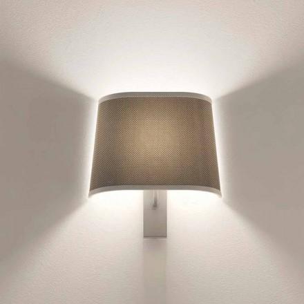 Design væglampe i metal sølv eller hvid finish Made in Italy - Jump